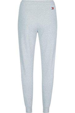 tommy sport joggingbroek »cuff fleece jogger logo« grijs