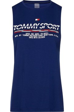 tommy sport sporttop »cotton mix printed tank top« blauw