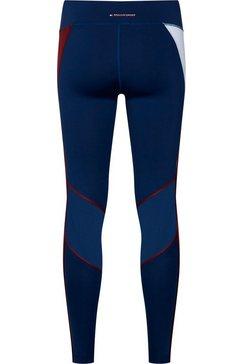 tommy sport functionele legging »highwaist training legging« blauw