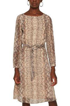 esprit collection gedessineerde jurk beige