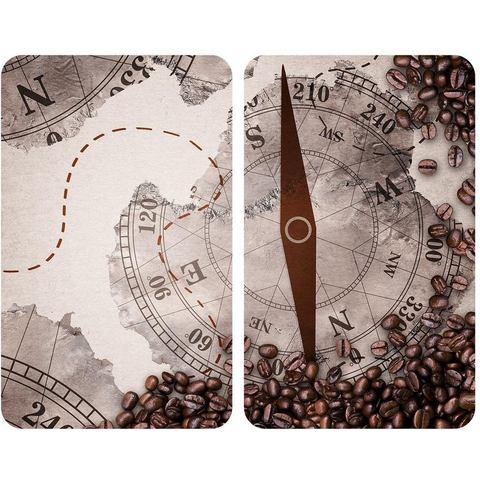 WENKO kookplaatdeksel Universeel, kompas (set, 2 delig)