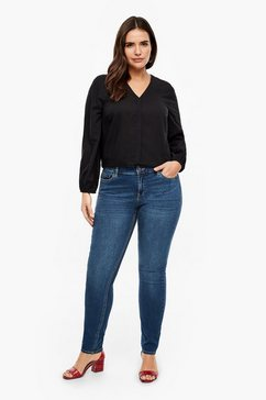 triangle rick slim: donkere stretchjeans blauw