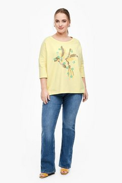 triangle sweatshirt geel