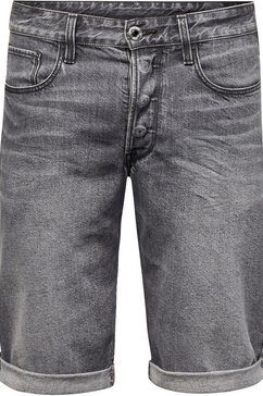 g-star raw bermuda »3301 short« grijs