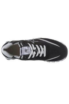 paul green sneakers met sleehak zwart