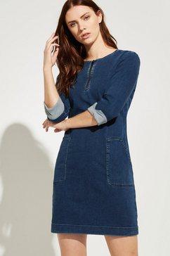 comma jeansjurk blauw