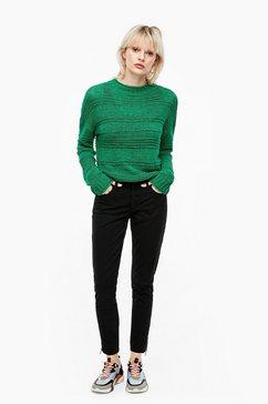 q-s designed by fijngebreide trui met vleermuismouwen groen