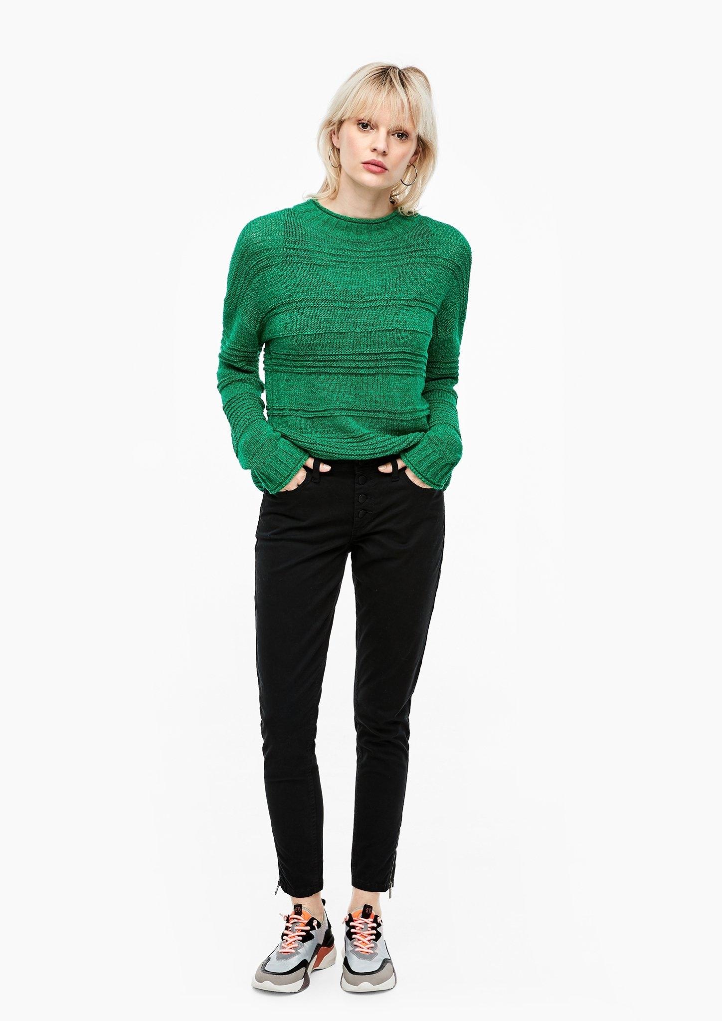 Q/s Designed By Fijngebreide trui met vleermuismouwen voordelig en veilig online kopen