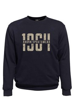 ahorn sportswear sweatshirt met grote frontprint blauw