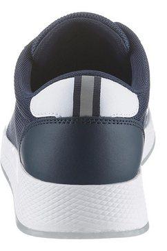 tommy jeans sneakers met sleehak »wmns tommy jeans flexi runner« blauw