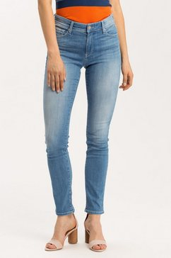 cross jeans slim fit jeans »anya« blauw