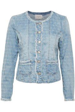 cream jeansjack »robinacr denim« blauw