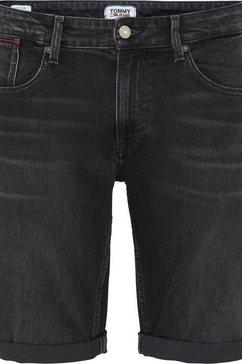 tommy jeans jeansshort »ronnie short« zwart