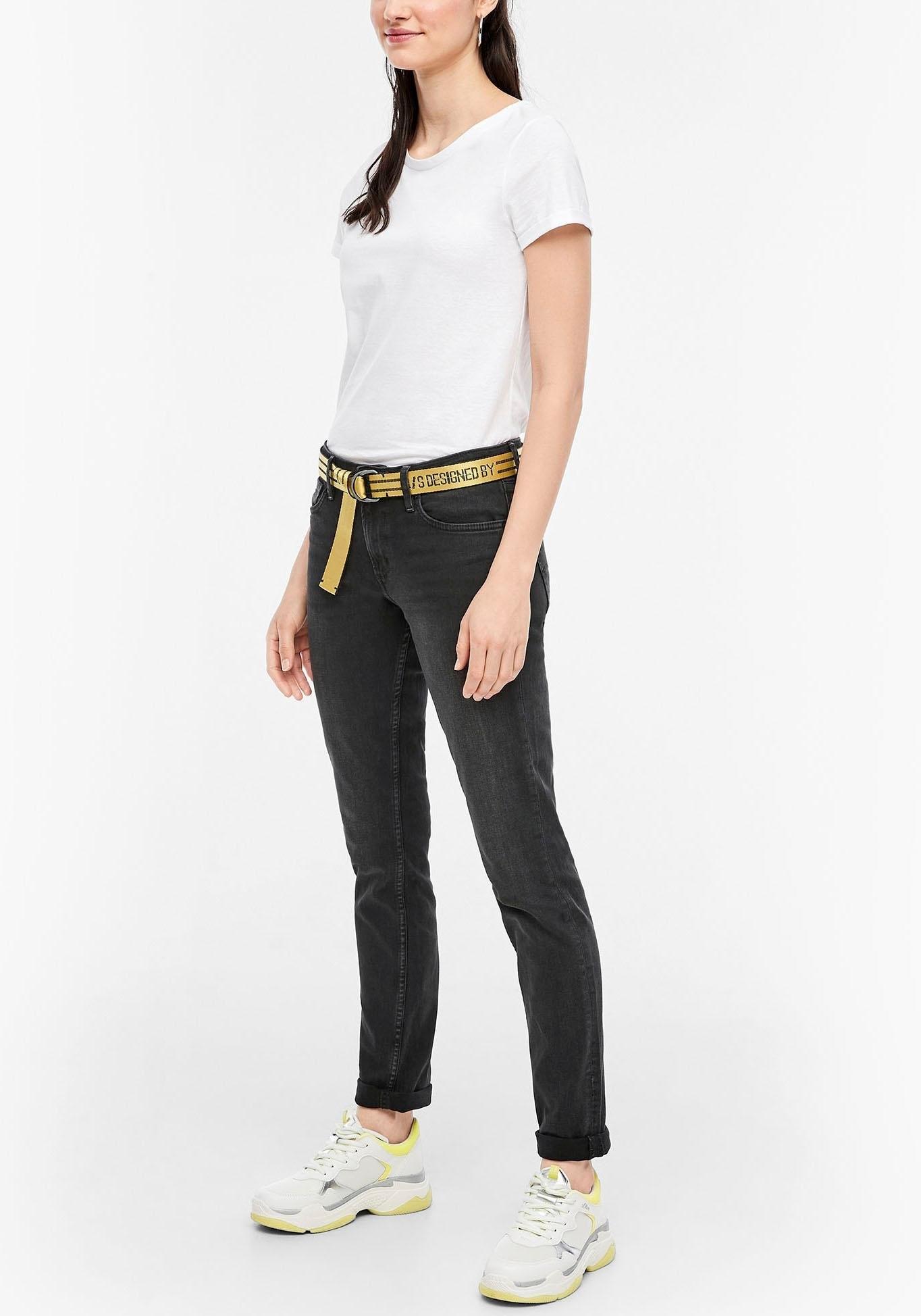 Q/s Designed By slim fit jeans »Catie Slim« goedkoop op otto.nl kopen