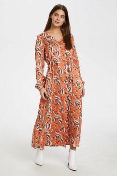 kaffe gedessineerde jurk »kamarine« oranje