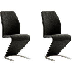 mca furniture vrijdragende stoel virginia set van 2, stoel belastbaar tot 120 kg (set, 2 stuks) zwart