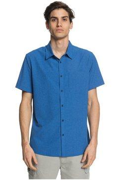 quiksilver - waterman tech tides - overhemd met korte mouwen en upf 30 voor heren blauw