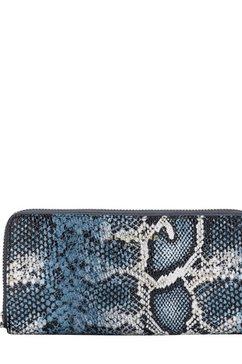 liebeskind berlin portemonnee »python slg gigi wallet large« blauw