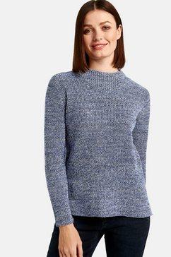 taifun trui met ronde hals en lange mouwen »pullover mit turtleneck« blauw