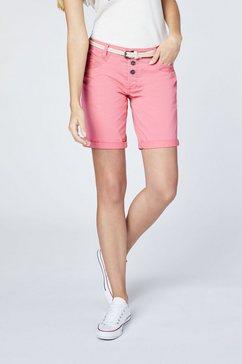 oklahoma premium denim chino shorts »mit guertel« roze