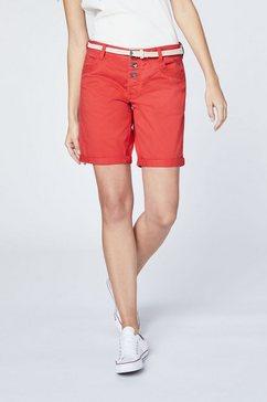 oklahoma premium denim chino shorts »mit guertel« rood