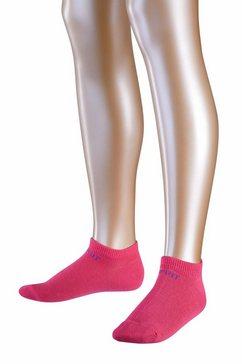 esprit sneakersokken foot logo 2-pack roze