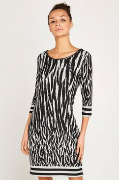 apricot gedessineerde jurk »zebra texture stripe border dress« grijs