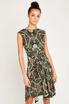 apricot gedessineerde jurk »african tile hankyhem dress« groen