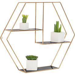 leonique wandrek »hexagon« goud