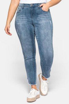 sheego stretch jeans blauw