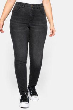 sheego stretch jeans zwart