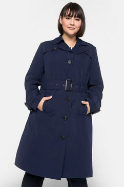 sheego casual trenchcoat blauw