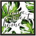 artland artprint home sweet home (1 stuk) groen