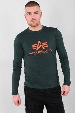 alpha industries shirt met lange mouwen »basic t - ls« groen