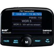 lenco »dac-100« autoradio (digitale radio (dab +), fm-zender, automatische zendertracering) zwart