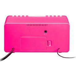 lenco wekkerradio »cr-510 (fm-tuner) roze