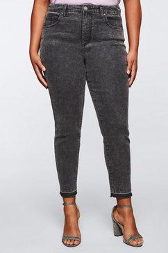 sheego by miyabi kawai stretch jeans grijs