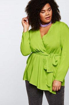 sheego by miyabi kawai blouse met lange mouwen groen