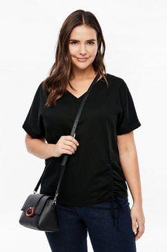 triangle batist-jersey-t-shirt zwart