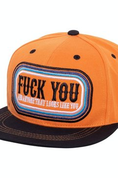 kingkerosin flat cap »f*ck you« oranje