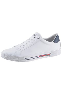 tommy jeans sneakers »essential leather sneaker« wit