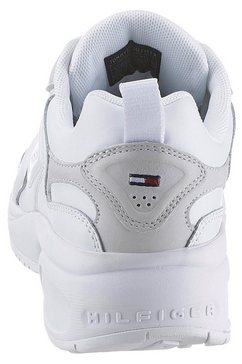 tommy jeans sneakers met sleehak »wmn heritage tommy jeans sneaker« wit