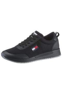 tommy jeans sneakers »tommy jeans flexi runner« zwart