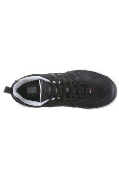 tommy jeans sneakers met sleehak »wmn heritage tommy jeans sneaker« zwart
