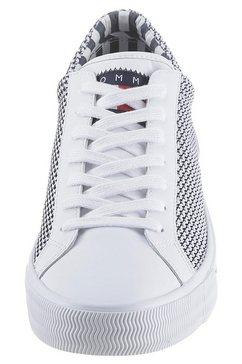 tommy jeans sneakers »textile city sneaker« wit