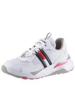 tommy jeans sneakers met sleehak »wmn tommy jeans cool runner« wit