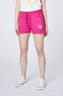 oklahoma jeans sweatshort »mit elastischem buendchen« roze