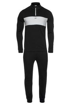 reebok joggingpak »te linear logo ts« zwart