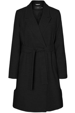 vero moda curve winterjas (met een bindceintuur) zwart