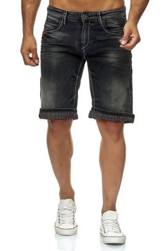rusty neal denim short met destroyed details »13617« zwart